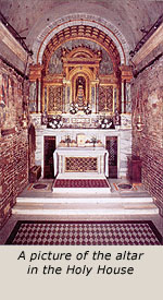 A picture of the altar in the