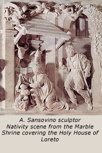 A. Sansovino sculptor - Nativity scene from the Marble Shrine
